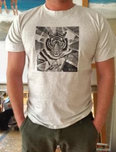 male T-Shirt XXL grey_Tiger motif